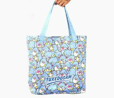 Tuxedosam Giant Tote Bag: Busy Day
