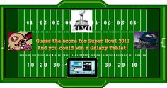 Guess the winning score of the Super Bowl and you could score a Samsung Galaxy Tablet!! #ad