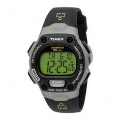 45421c295c90 Timex Men s Ironman Traditional Black Gray Resin Strap Watch - - Keep your  sports training focused with the full-sized Timex Men s Ironman Traditional  ...