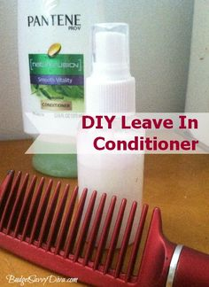 How to Make Your Own Leave in Conditioner __Fill and empty spray or spritz bottle with 1 part hair conditioner and 4 parts water. Shake well before using. Spray directly on your hair when you need to tame the frizz or if you need help with tangles. Diy Conditioner, Leave In Conditioner, Natural Hair Tips, Natural Hair Styles, Diy Beauty, Beauty Hacks, Beauty Tips, Homemade Beauty Products, Hair Products