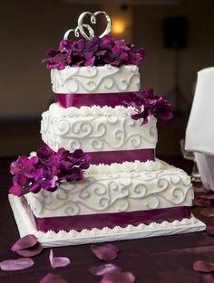 Púrpura y gris de la torta