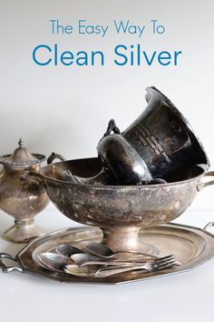 Diy Home Cleaning, Household Cleaning Tips, Cleaning Recipes, House Cleaning Tips, Diy Cleaning Products, Cleaning Hacks, How To Clean Aluminum, Cleaning Aluminum, Cleaning Silver