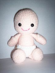 Morgan - Unisex Amigurumi Baby Doll - This is a really simple pattern - seems like a lot to do but it really doesn't take long to make.