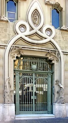 Barcelona, door, entrance. doorway, portal, details, swirl, ornaments, beauty, swirl, gorgeous, photo