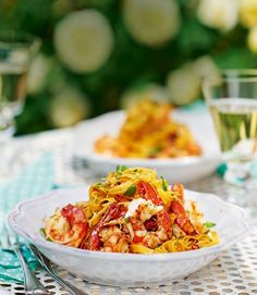 Prawn, chilli and lemon tagliatelle