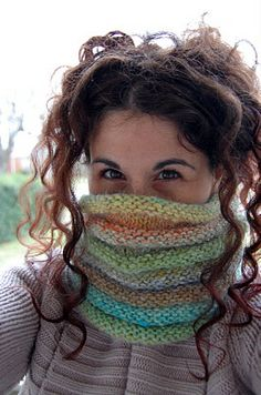 cowl neck scarf that doubles as a hat...great for holding hair up without having 'hat head'