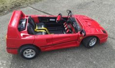 1996 Ferrari Buddy L F40 Childs Ride On Electric Battery Powered Car RARE - http://hobbies-toys.goshoppins.com/electronic-battery-wind-up-toys/1996-ferrari-buddy-l-f40-childs-ride-on-electric-battery-powered-car-rare/