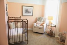 6th Street Design School | Kirsten Krason Interiors : Salt Lake Parade of Homes // PEACH/GREY/GOLD nursery