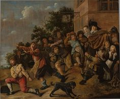 https://flic.kr/p/BV2iCd | Jan Miense Molenaer - Children Teasing Dwarves [1646] | The dwarf has turned on the boys who are taunting him and is hurling stones at them. This is not a good idea, for he is no match for them. Anyway, only small people lose their tempers. Which is why the upright citizens on the right find the scene so amusing. That rather harsh moral is typical of the 17th century.  [Museum Boijmans Van Beuningen, Rotterdam - Oil on canvas, 108 x 129 cm]