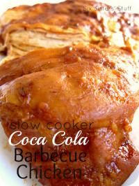 Six Sisters Slow Cooker Coca Cola Barbecue Chicken Recipe is moist and perfect for a busy day!