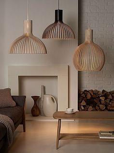 Lamps for the living room room- Lampen für das Wohnzimmer Lamps for the living room room - Scandinavian Lighting, Scandinavian Interiors, Home Interior, Interior Design, Deco Luminaire, Wooden Lamp, Interior Lighting, Lighting Ideas, Modern Lighting Design