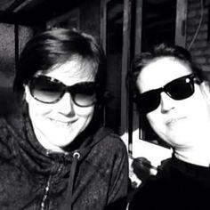 Min veninde Gitte og jeg en morgen på taressen.