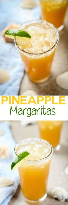 Perfect Pineapple Margaritas -This pineapple margarita is the perfect balance…