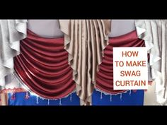 Swag Curtains, How To Make Curtains, Cheer Skirts, Waves, Sewing, Youtube, Weddings, Fashion, Curtain Patterns