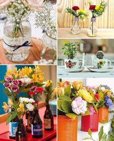 diy vaso de flor feito com materiais reciclados 1