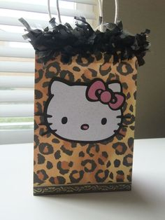 afa40f5b5918 Hello Kitty Leopard Goodie Bag by SweetCoutureBoutique on Etsy