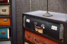 Vintage koffers als kast   | roomed.nl