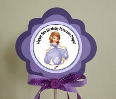 Sofia the First Personalized Centerpiece by TwoLaughingLambs, $3.50
