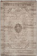 Safavieh's Vintage collection is inspired by timeless transitional designs crafted with the softest viscose available. This rug is crafted using a power loomed construction with a viscose pile.