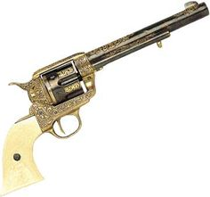 An engraved 1873 Colt Single Action Army with Ivory. Beauty.
