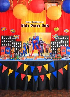 Superhero Justice League Themed Birthday Party