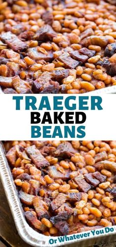 These easy homemade Traeger baked beans with brisket are packed with tender brisket and smothered in a homemade sauce. Traeger Recipes, Smoked Meat Recipes, Grilling Recipes, Grilling Ideas, Homemade Baked Beans, Baked Bean Recipes, Rib Recipes, Brisket Sides, Amigurumi