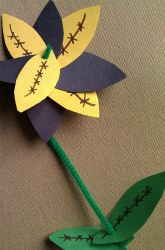 Activities: Father's Day Flower with football shaped petals.
