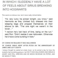 In which I suddenly have a lot of feels about Sirius breaking into Hogwarts. Harry Potter Love, Harry Potter Universal, Harry Potter Fandom, Harry Potter Memes, Harry Potter World, Lily Potter, Potter Facts, James Potter, Hogwarts