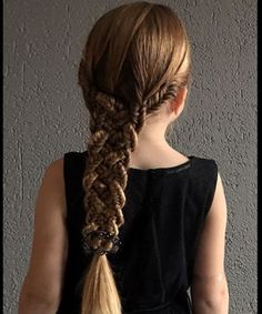 Multi Strands Tight Braids Long Hairstyles for Toddlers