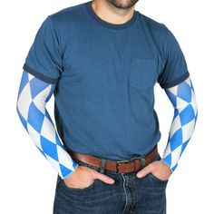 Beistle Oktoberfest Party Sleeves, Blue/White