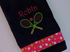 Personalized Tennis Team Towel or Spirit by TennisXGolfGiftsETC, $13.95