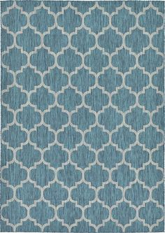 Unique Loom 3129044 Modern Geometric 7 Feet (7' x) Outdoor Trellis Contemporary Area Rug, 7 x 10, Teal ** New and awesome product awaits you, Read it now  (This is an amazon affiliate link. I may earn commission from it)