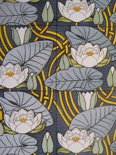 Water lilies, by Maurice Pillard Verneuil, published in 1897.
