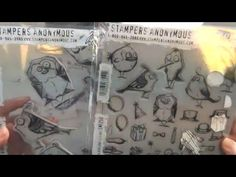 A TRAVEL THEMED (LONDON) CARD WITH MINI BIRD CRAZY STAMPS FROM TIM HOLTZ - YouTube
