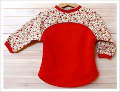 Cute Mini Bethioua Raglansleeve size 86. Free sewing pattern