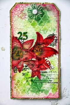 Mixed Media Place: December tag fun by Gayle / Grudniowe tagi od Gayle