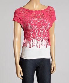 Look at this #zulilyfind! Crochet Top by Lady's World #zulilyfinds
