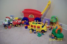 Lot of Fisher-Price Little People Toys