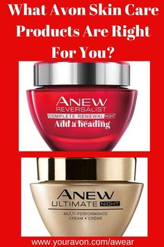 Find Avon Skin Care according to age.  Learn what the differences are between the different Avon Anew products.  #avonskincare #avonanewproducts
