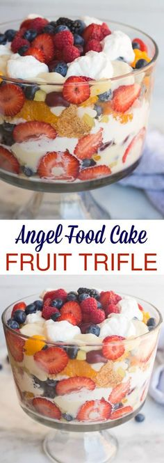 Angel Food Cake Fruit Trifle | Food And Cake Recipes