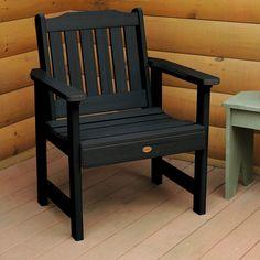 Highwood Eco-friendly Marine-grade Synthetic Wood Lehigh Garden Chair (black), Size Single, Patio Furniture (Plastic)