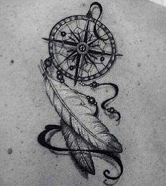 Compass dream catcher