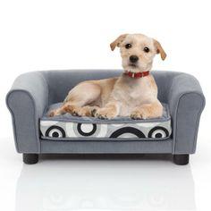 Luxury Grey Circles Print Pet Sofa