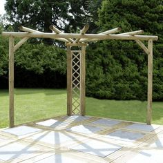 Kinlet Corner Pergola  -  This would be strong enough for wisteria