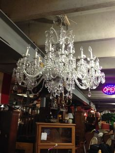 Antique crystal chandelier light waterford style vintage rewired gorgeous waterford crystal chandelier aloadofball Images
