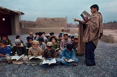 by Steve McCurry Schools Around The World, Around The Worlds, Steve Mccurry Portraits, Refugee Rights, Bored Teachers, Gerhard, Powerful Images, World Cultures, Children