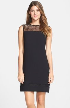 Marc New York by Andrew Marc Illusion Yoke Crepe A-Line Dress available at #Nordstrom