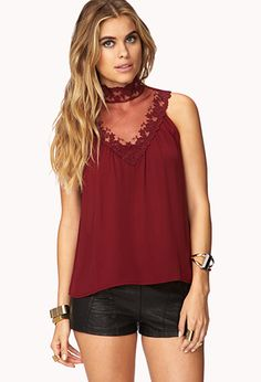 Romantic Lace Top | FOREVER21 - 2000074449