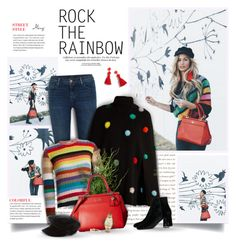 """Rock The Rainbow"" by thewondersoffashion ❤ liked on Polyvore featuring J Brand, Fendi, Gucci, Coach, Yves Saint Laurent, Topshop, J.Crew, Michael Kors and Sydney Evan"