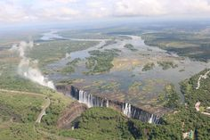 Water levels at Victoria Falls are rising quickly. Aerial image of Victoria Falls taken on 15 January 2016